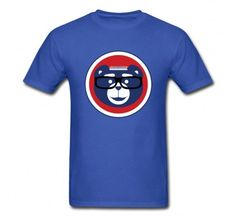 Novelty Chicago Cubs Maddon Male Crew Neck Short Sleeves T shirt