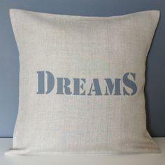 Coussin Dreams 40x40 en lin - Housse de coussin Dreams en lin