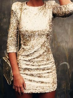 Gold and glitter. Perfect dress for NYE.