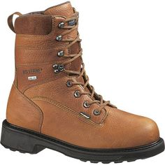 "W02565 Wolverine 8"" WP Men's Work Boots - Brown"