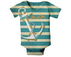 Nautical Custom Onesie for Boys