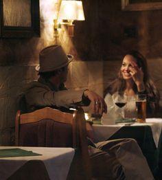 May 2007 - Brad Pitt & Angelina Jolie at a restaurant in Prague - HarpersBAZAAR.com