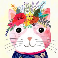 Pink Cat by Mia Charro