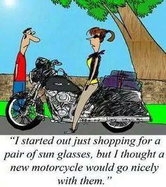 Sunglasses & New Harley Motorcycle Memes, Women Motorcycle, Biker Quotes, Biker Sayings, Biker Love, Riding Quotes, New Motorcycles, Biker Chick, Harley Davidson Bikes