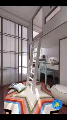 Small Room Design Bedroom, Small House Interior Design, Kids Bedroom Designs, Bedroom Furniture Design, Home Room Design, Room Ideas Bedroom, Home Decor Bedroom, Small Bedroom Inspiration, Cool Kids Bedrooms