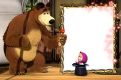 Transparent Masha and the Bear PNG Kids Photo Frame