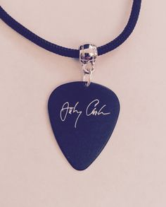 Johnny Cash Guitar Pick Necklace