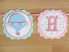 Pastel Hot Air Balloon Birthday Party Shower Banner Sign Aqua Turquoise Pink Blue by PeachyPaperCrafts on Etsy https://www.etsy.com/listing/206936656/pastel-hot-air-balloon-birthday-party