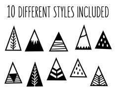 Wall and Wonder Wall Decor Mountains Wall Stickers - Wall Decals Cute Mountain Art Decor