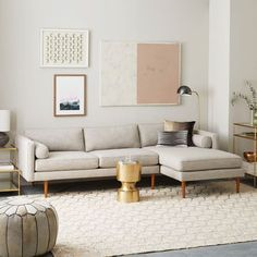 Monroe Mid-Century 2-Piece Chaise Sectional | west elm
