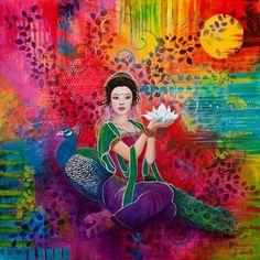 Lotus Art, Peacock Decor, Buddha Art, Illustrations, Art Abstrait, Indian Art, Mandala, Sketches, Art Prints