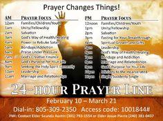 Hour line 24 prayer TOLL FREE