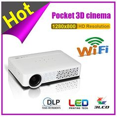 Newest 3D glasses Full HD Smart Android Mini Projector Proyector LED LCD WIFI Best Home Theater Beamer DLP Projektor 1080p. Resolution:1280*800, support 1080p. Projection Distance:0.25m-3.5m. Lamp:OSRAM 3LED; Up to 50,000hrs life. Contrast Ratio:10,001:1-20,000:1. Picture size:40-200 inch.