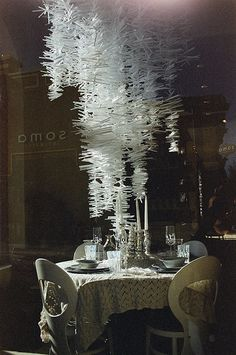 Anthropologie window.  They feed my energy when it comes to creativity and large displays.  Straws, cups, glass, paper.  Anything in excess, put together = creative and inspiring art.