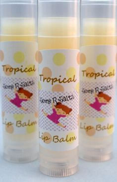 Lip Balm with Nourishing Oils, Tropical Chapstick - pinned by pin4etsy.com