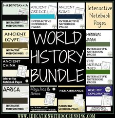 Complete middle school world history set of interactive notebook pages.  Great for using with primary sources, station activities and more.  Save big and get ready for a great year.