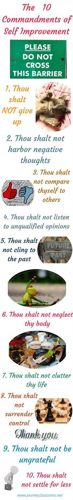 The ten commandments of self improvement - disregard them at your own peril