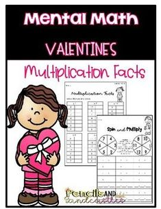 Have fun practicing multiplication facts with this Valentines Day Math resource.All worksheets come in a black and white template. To save on ink, worksheets can be printed and placed in a sheet protector or laminated. Then have the student use a dry erase marker to complete the activity. These work... Science Resources, Teacher Resources, Teaching Ideas, Multiplication Activities, Classroom Tools, Valentines Day Activities, Dry Erase Markers, Math Centers, Fun Learning