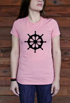 Ships Wheel Favorite Tshirt by BlackTreeCity on Etsy