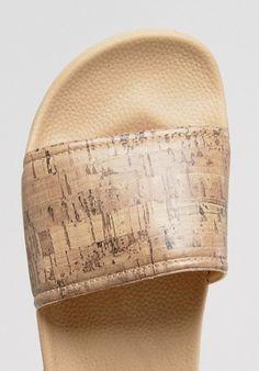Slydes - Sandalen zum Einschlüpfen mit Kork Look Sandals