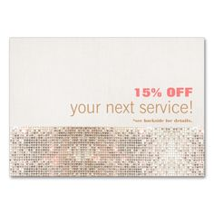 Faux Sequins Hair Salon and Spa Discount Coupon Large Business Cards (Pack Of 100). This great business card design is available for customization. All text style, colors, sizes can be modified to fit your needs. Just click the image to learn more!