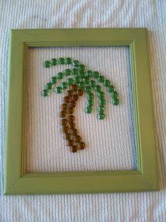 Palm Tree Bead Art