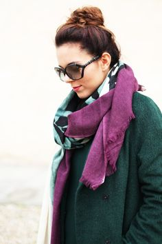 green #winter coat