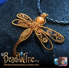 Wire Weave Dragonfly by ~Digimom on deviantART