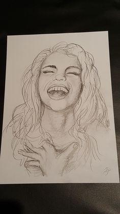 Lachen ist gesund! lachende Frau Mädchen Freude Zeichnung - kann gekauft werden für 180 Euro Female, Drawings, Painting, Board, Google, Drawing Girls, Drawing Faces, People Laughing, Joy