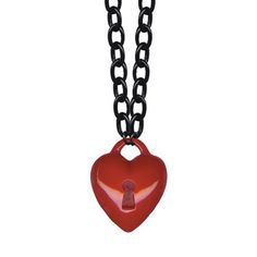 Key To My Heart Necklace Red, $27, now featured on Fab.