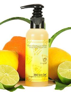 Citrus Fresh Shea & Aloe Facial Cleanser by 360 Skin Care. $19.00. Gently Cleanses Facial & Neck. Avocado Oil rich in Vitimin A, D, & E. Formulated for use on all skin types. Botanical Extracts of Olive Leaf Extract, Gingko Biloba Extract & Green Tea. 99.8 % Natural. 360 Skin Care's Shea & Aloe Facial Cleanser is a Sugar and Coconut derived facial cleanser. It delicately eradicates dirt and grime while thoroughly cleansing the skin and removing impurities. Rich creamy lather...