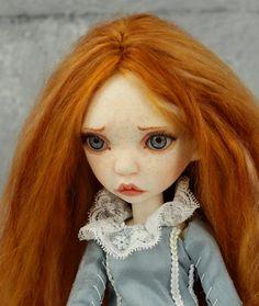 Tiny BJD girl Runa OOAK in design, full set, Artist doll BJD by miradolls