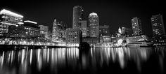 Boston Harbor. @ Night.