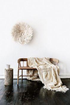 beige throw blanket