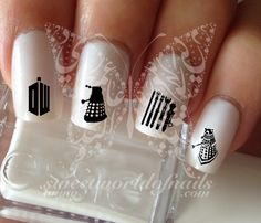 Doctor Who Nail Art Nail water decals transfers