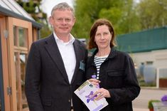 Martin Clunes and Philippa Braithwaite
