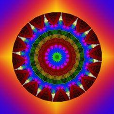 épanouissement ; blooming ; florescente ; floreciente Mandala de Pierre Vermersch Digital Drawings