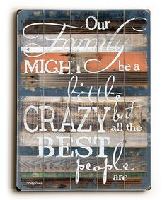 This 'Our Family' Wall Art is perfect! #zulilyfinds