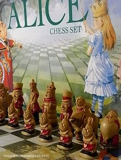 We have high quality Alice In Wonderland chess set products. If you are looking for high quality Alice In Wonderland chess pieces you have come to the right place. You will find great deals on our Alice In Wonderland chess sets. Chess Set Unique, Go Ask Alice, Chess Pieces, Adventures In Wonderland, Through The Looking Glass, Board Games, Making Mistakes, At Least, Confused