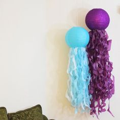 We created jellyfish paper lanterns! You can easily do this at home for any occasion :3