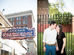 Anne + Alex: Downtown Memphis Engagement. #Memphis #Wedding #Photography by Amy Hutchinson Photography