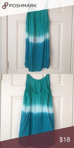 Blue ombré tie-dye dress Fun lightweight summer dress! Bright colors! 100% rayon. Only worn once on vacation! Excellent condition. No rips, stains, or tears. Smoke free home. Mimi Chica Dresses Mini