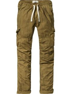 Pantalones cargo de algodón | Relaxed slim fit