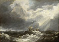 Sunlight on a Stormy Sea  Bonaventura Peeters I (1614–1652)  National Maritime Museum