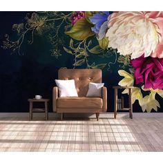 Flores Wallpaper, Home Wallpaper, Unique Wallpaper, Wallpaper Roll, Foto 3d, Removable Wall Murals, Mediterranean Home Decor, Mediterranean Architecture, Rose Wall
