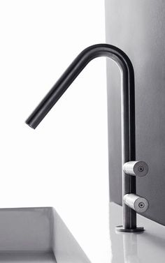 Stylish sturdy black bathroom taps | modern bathroom inspiration by COCOON | stainless steel | bathroom design and renovation | minimalist design products for your bathroom and kitchen | modern washbasins | villa and hotel projects | Dutch Designer Brand COCOON