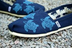 Sea Turtle Custom TOMS Shoes by themattbutler on Etsy https://www.etsy.com/listing/151734335/sea-turtle-custom-toms-shoes