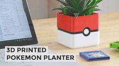 I designed this 3D Printed Pokeball planter (free download No Oddish inside)