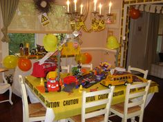 The Main Table Construction Birthday Parties Maine
