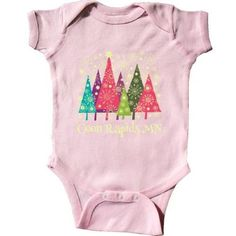 Inktastic Coon Rapids Minnesota Christmas Infant Creeper Baby Bodysuit Cities City Trees Holiday Cute Gift State Towns Pride Travel One-piece Hws, Infant Girl's, Size: 24 Months, Pink